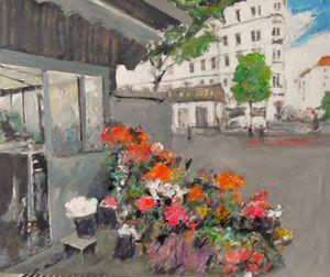 flower stall in vienna - Riverview Gallery