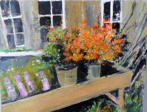 flowers in pots - Riverview Gallery