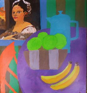 girl in still life