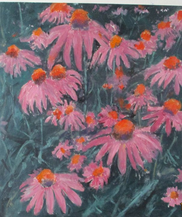 Pink Flowers - Riverview Gallery