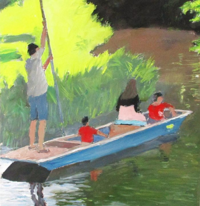 River scene boating - Riverview Gallery