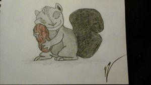 Squirl hugging penut