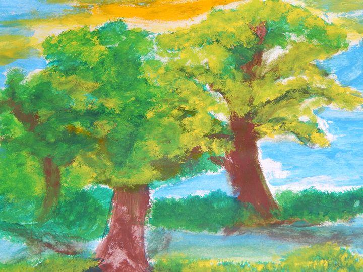 light through the trees - katinc