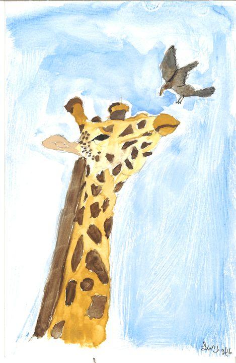 Giraffe Landing - Laurel Anne's Menagerie