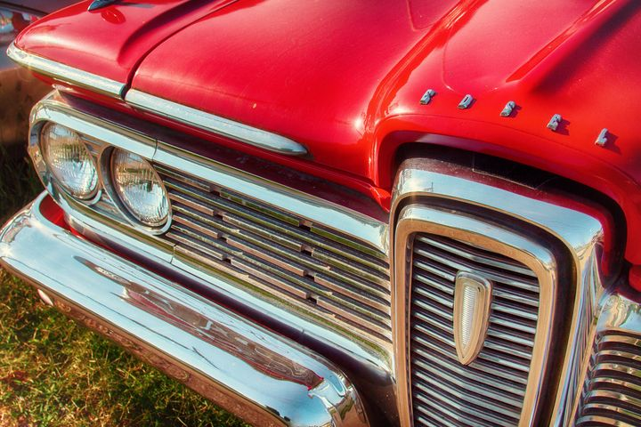 Red Edsel - Russell Honey Photography