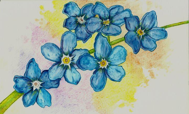 Flores Azuis - Aquarela Beauty