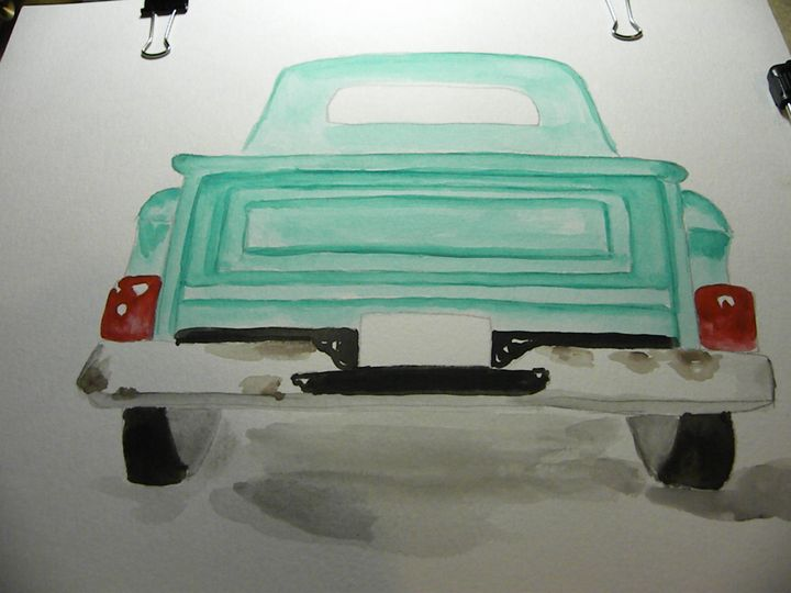 Watercolor truck - Missygirl