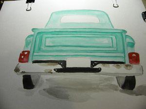 Watercolor truck