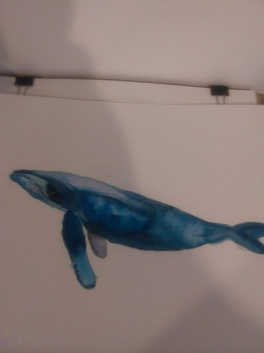 Original watercolor humpback whale - Missygirl