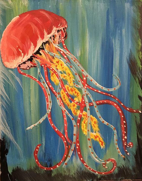 Strawberry jellyfish - Painting 4 PTSD