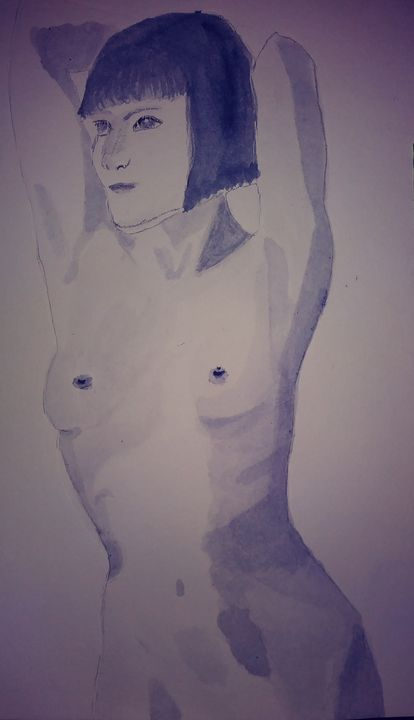 Grayscale nude - Elizabeth Maria - LibertineArt.com