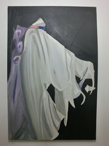 white wedding dress painting
