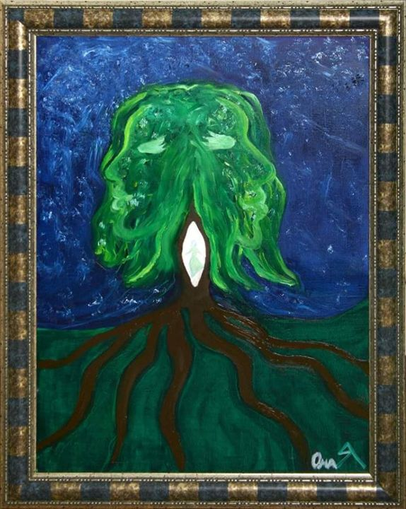 Tree Of Baphomet Canvas Oil Painting - OmaЯ Art