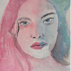 blue pink halo