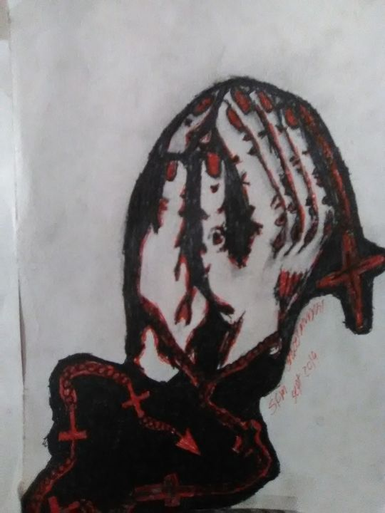 Praying hands - Stacey fays artistic prints