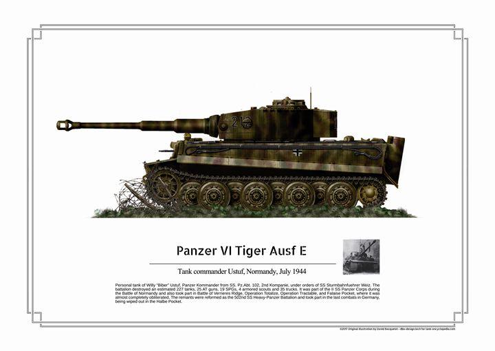 Panzer VI Tiger Ausf E - Ustuf - dbo design