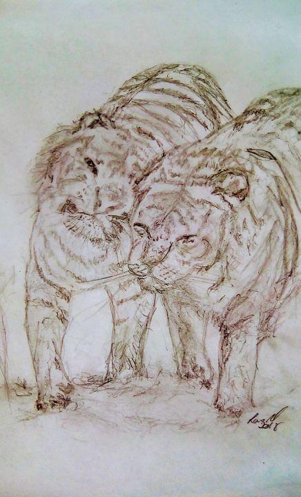 Tiger affection - lanaxartx