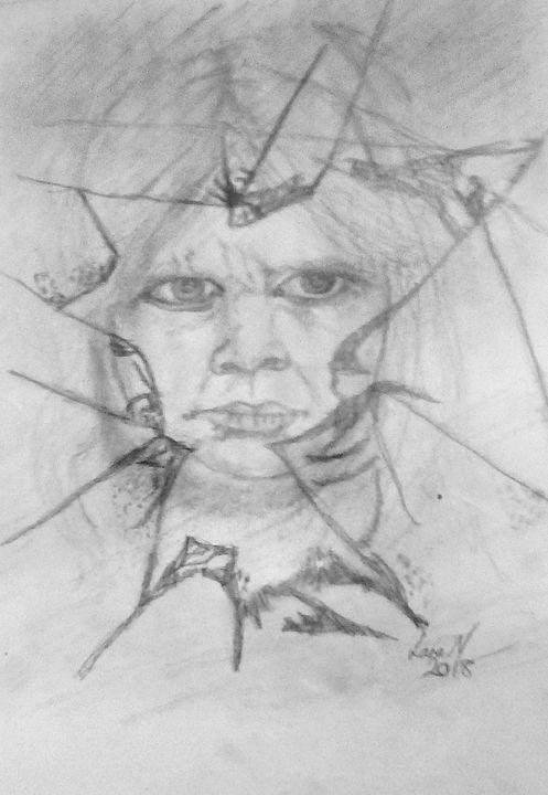 Girl in the broken window - lanaxartx