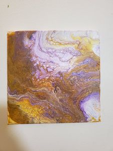 Gold and Purple Water