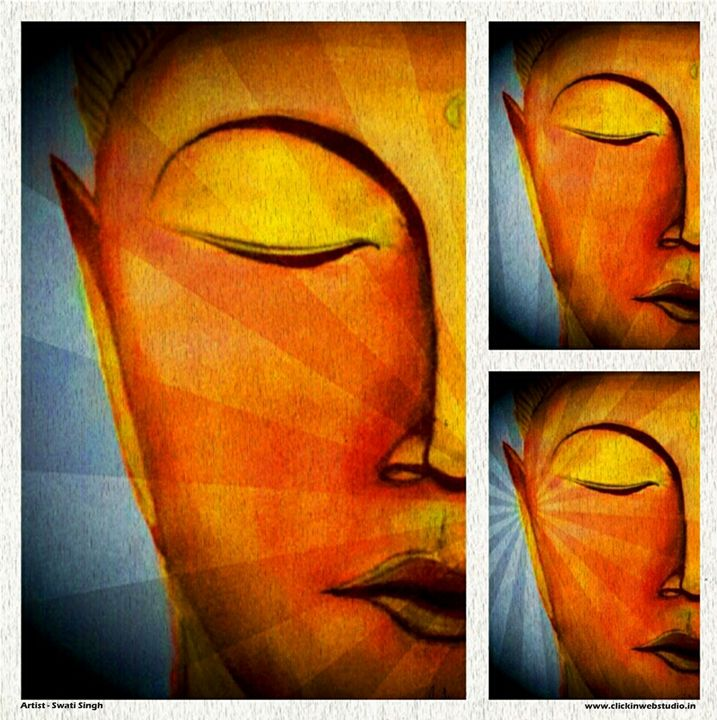 Buddha - Golden - Magical Art World