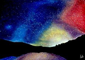 Colorfull Sky at Night