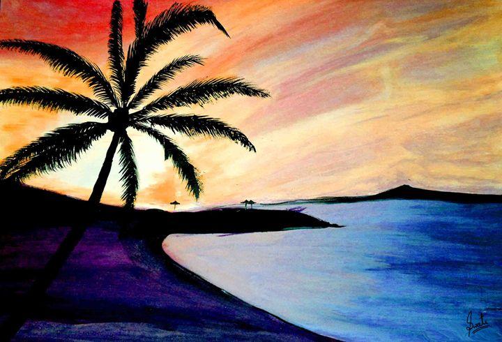 Beautiful Sunrise Painting - Magical Art World