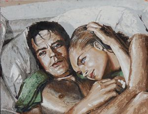 Alain Delon et Romy Schneider - Vog