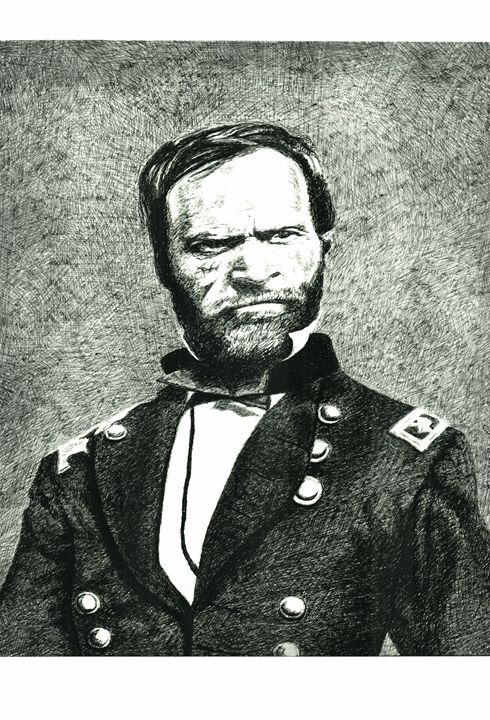 General William T. Sherman - www.Artpal.com/alphacortius