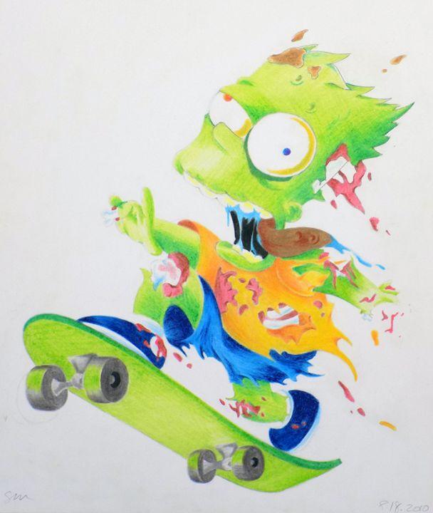 Zombie Bart Simpson - Sarahtonin