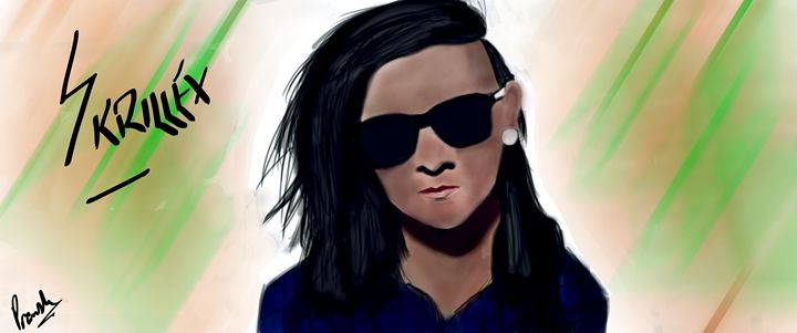 Skrillex Painting - Digital ART