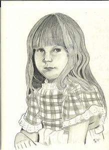 Child Graphite Pencil Custom Drawing