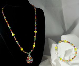 Rainbow Fun Necklace & Bracelet Set