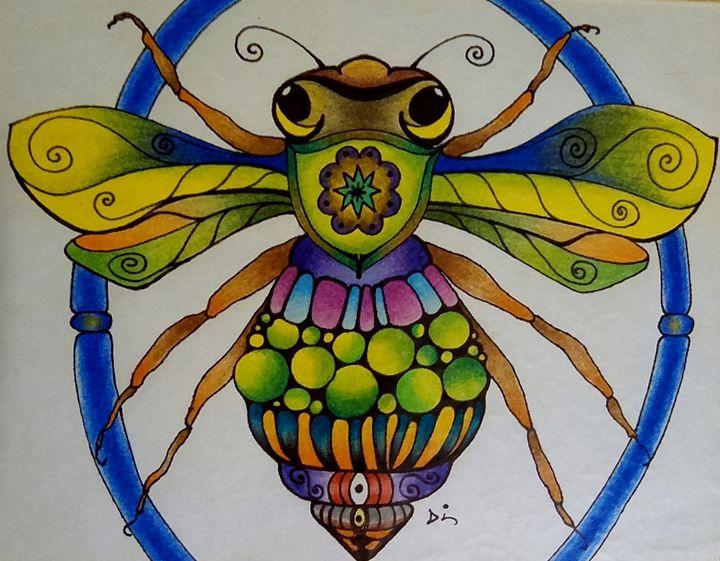 rainbow bee - dianestudio