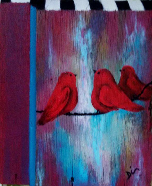 3 red birds - dianestudio