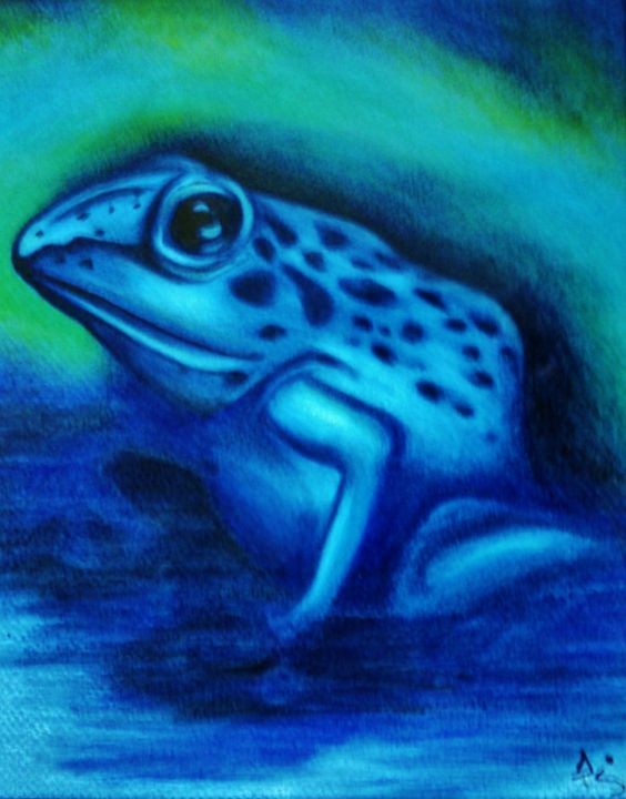 Frog has the blues - dianestudio