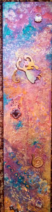 mixed media on wood - dianestudio