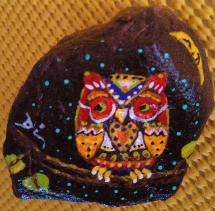 acrylic on rock - dianestudio
