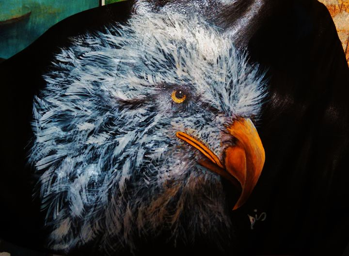 eagle on leather - dianestudio
