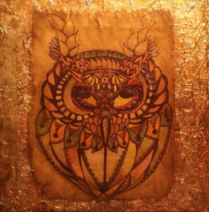 owl abstract - dianestudio