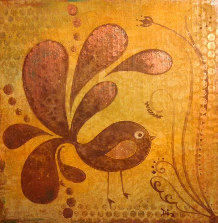 cute bird abstract - dianestudio