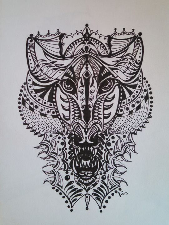 wolf abstract - dianestudio