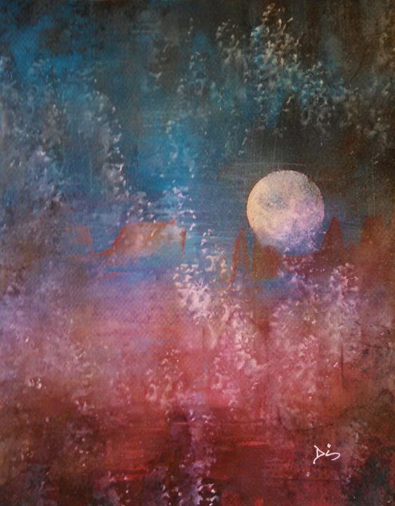 abstract moon - dianestudio