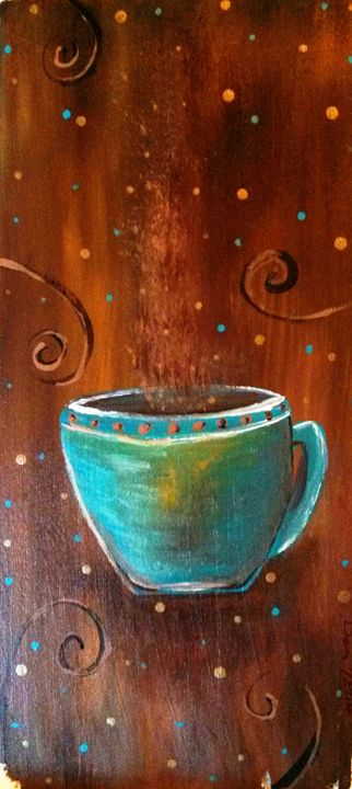 "blue cup 8""x18"" - dianestudio"