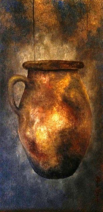 "brown jug 9""x18"" - dianestudio"