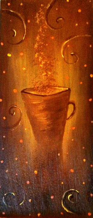 "brown cup 8""x18"" - dianestudio"