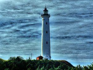 Nörre Lyngvig lighthouse (landscape)