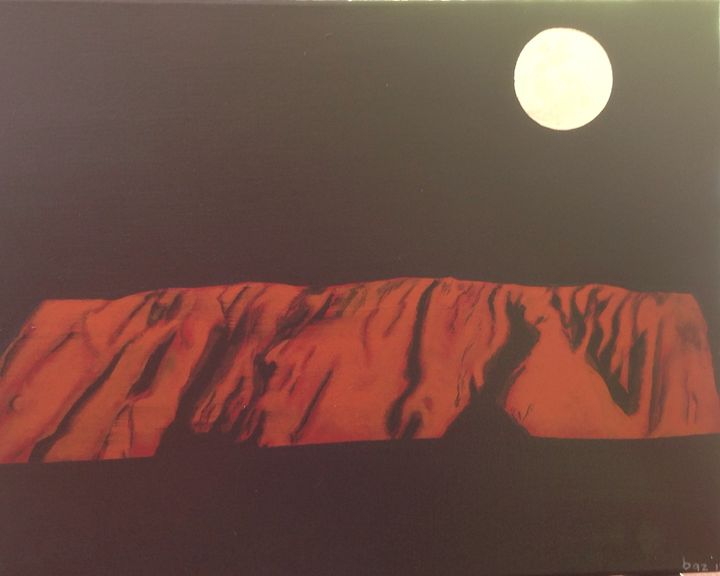 Full moon over Uluru - puhwissel art