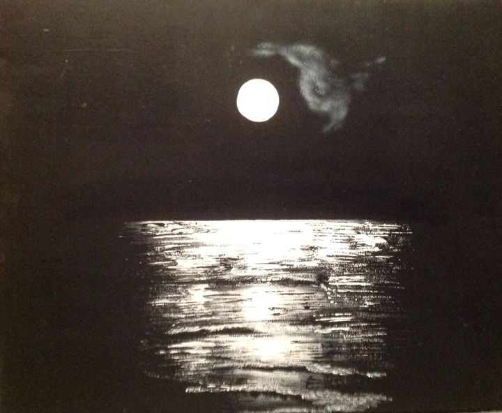 Moonlight over Bulli Beach - puhwissel art