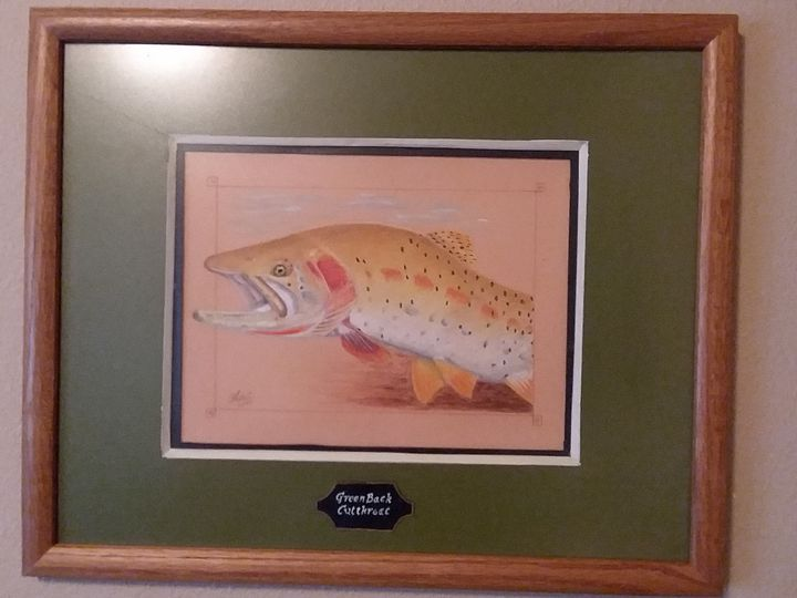 Greenback cutthroat (sold) - The art of the Chip