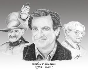 Robin Williams Tribute - Paul's Art